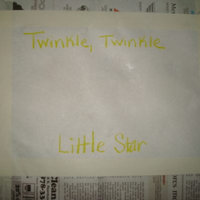 Twinkle, Twinkle Little Star Craft
