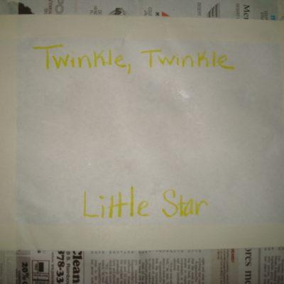 Twinkle, Twinkle Little Star Craft