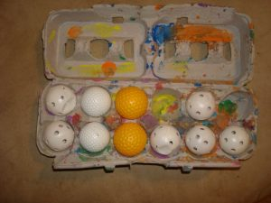 Egg Carton Golf Ball Organizer and Game
