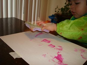 Toddler Texture Painting Project