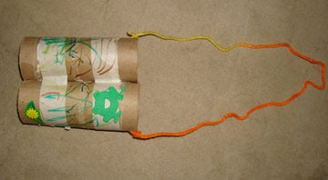 Toliet Paper Roll Binoculars Craft