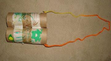 Toliet Paper Roll Binoculars Craft