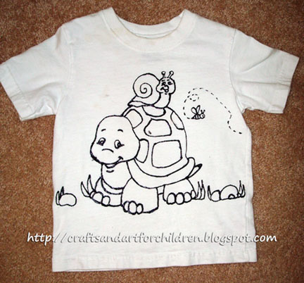 Fun Handmade Color Your Own T-shirt Craft