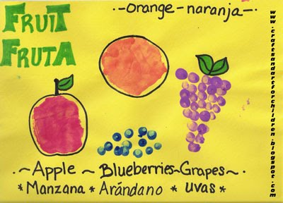Learning Spanish ~ Fruit Art Project