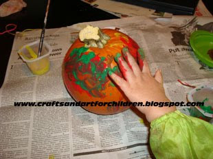 Halloween Pumpkin Painting for Toddlers