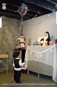 Winter Penguin Birthday Party Decorations