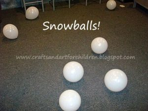 Pretend Snowballs - Winter Penguin Birthday Party Decorations
