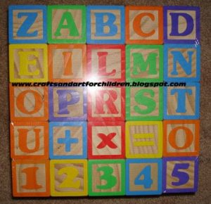Wood Alphabet Building Blocks