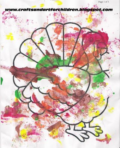Toddler Thanksgiving Turkey Painting