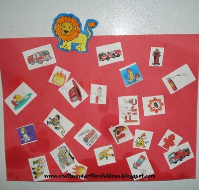 Firetruck Collage for toddlers
