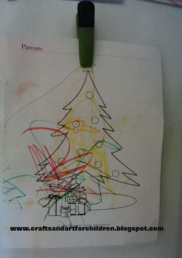 Christmas Tree Theme Crafts for Children