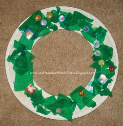 tissue-paper-wreath