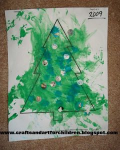 Toddler Christmas Tree Craft.Christmas Tree Theme Crafts For Children Artsy Momma