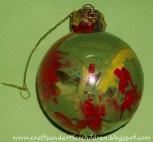 ornament made by child, kids ornament craft