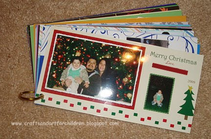Idea for Organizing Christmas Photo Cards and Other Photos