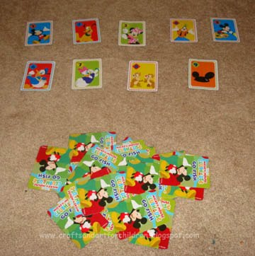 Mickey Mouse Matching Activity for Toddlers