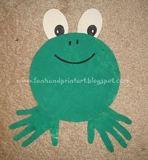handprint frog craft