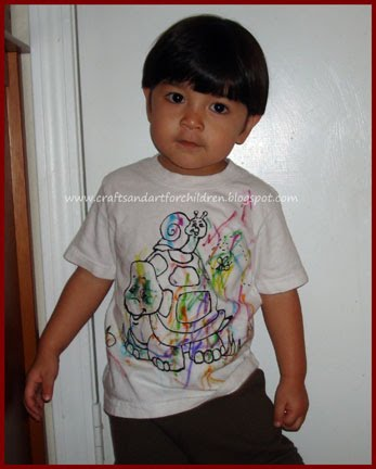 Homemade Color Your Own T-shirt