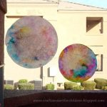 Tie Dye Coffee Filter Sun Catcher