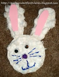 Cotton ball Easter Bunny Craft