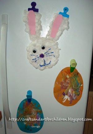 Cottonball Easter Bunny Craft Artsy Momma