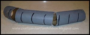 Elephant Trunk craft for pretend play