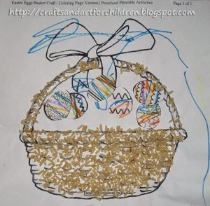 Easter Craft - Rice Sensory Activity