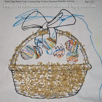 Easter Basket Sensory Art