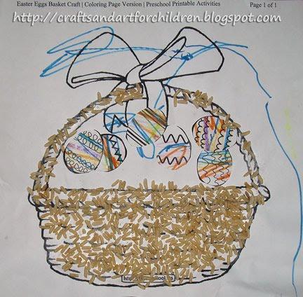 Easter Basket Sensory Art