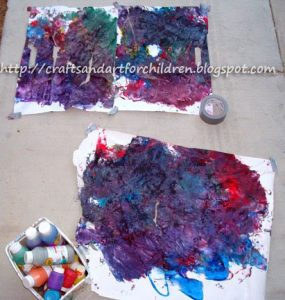 Toddler Stomp Painting Craft