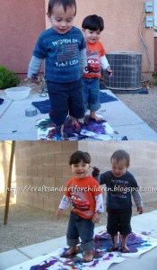 Stomp Painting Art + Activity for Kids