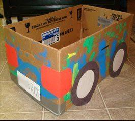 Upcycled Cardboard Box Car Craft ~ Art Playdate