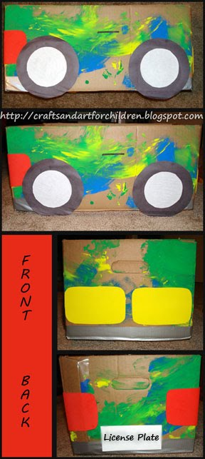 Upcycled Cardboard Box Car Craft Art Playdate Artsy Momma