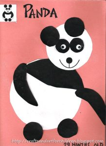 Panda Circle Craft for toddler and preschoolers