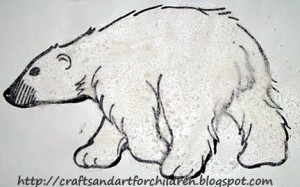 Salt Sensory Art - Polar Bear Craft