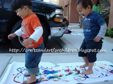 Toddler Stomp Painting Activity