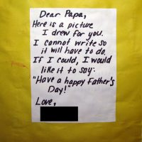 Father's Day Art & Poem from Toddler