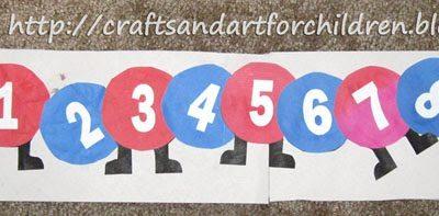 Numbers Caterpillar Craft