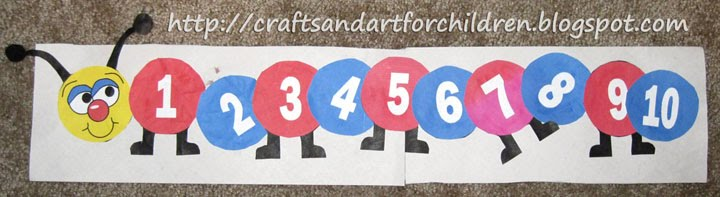 Numbers Caterpillar Craft - Artsy Momma