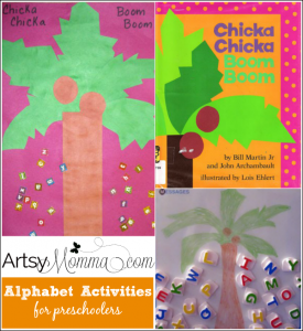 Activities and Craft for Chicka Chicka Boom Boom Book