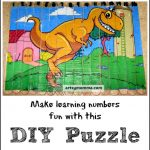 Dinosaur Popsicle Stick Puzzle ~ stART