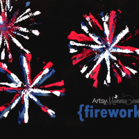 Homemade Pipe Cleaner Fireworks Stamp Craft for Kids