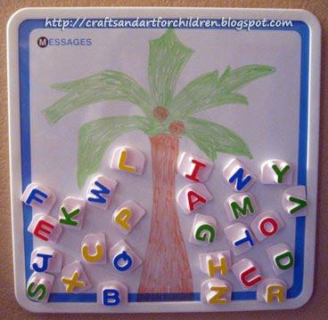 Preschool Alphabet Activity for the book Chicka Chicka Boom Boom
