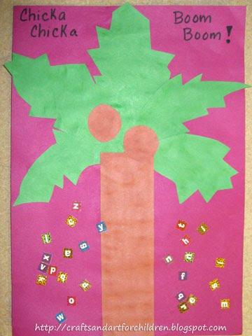 Chicka Chicka Boom Boom Alphabet Craft for Preschoolers