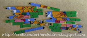 homemade dinosaur puzzle craft