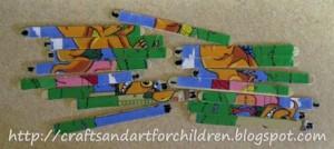 homemade dinosaur puzzle craft