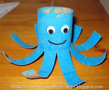 Toilet Paper Roll Octopus Craft