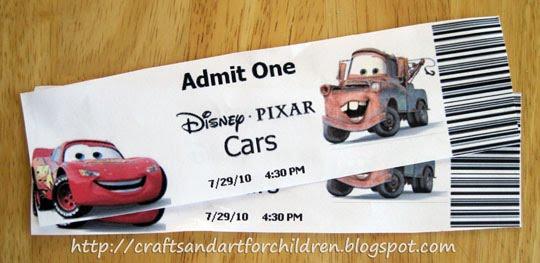 Disney Pixar Cars Movie + Crafts/Activities