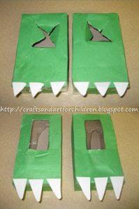 Tissue Box Dinosaur Feet #recycledcraft