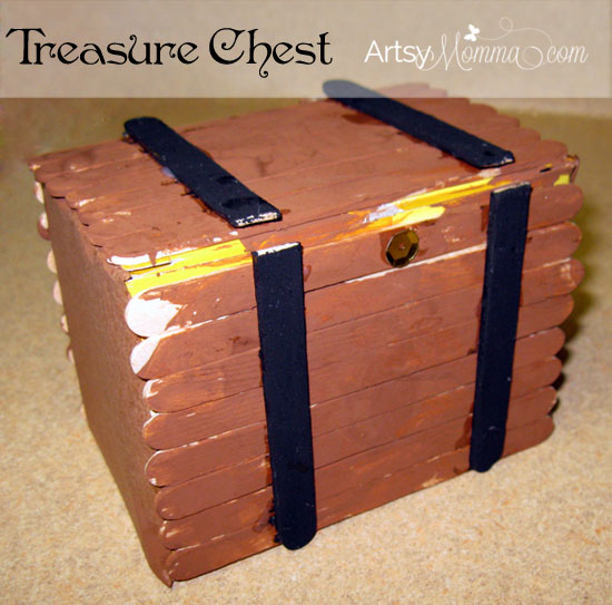 Pirate crafts and a treasure hunt artsy momma for Craft box for toddlers